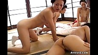 Japaneses with large bra buddies and titties screwed uncens...