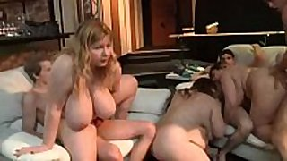 Lustful obese babes in an orgy getting rammed har...