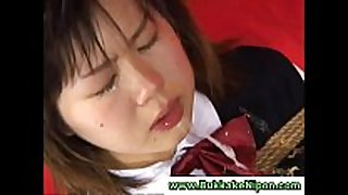 Real dilettante japanese legal age teenager sucks schlong and receives ...