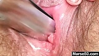 Mature mom karin shows off unshaved love tunnel extraordinary