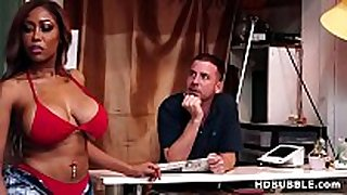 Booty black sweetheart fucks in the bikini shop - mor...