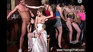 Cfnm bacherlorette nailed by stripper