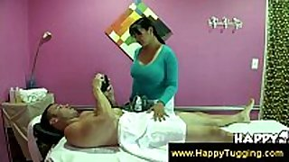 Busty masseuse receive paid for services