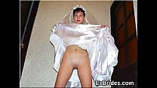 Young brides show anything!