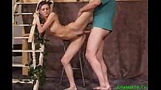 Flexible gymnast acquires hard sex