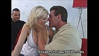 Busty blonde team-fucked by buddy