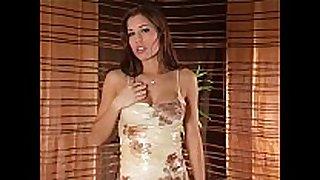 Nude stocking masturbation