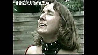 Master unties slutty aged serf from chair and ...