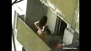 Couple caught fucking on the balcony