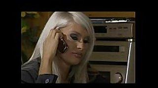 Masked blond three-some