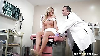Horny doctor is lucky to fuck his gorgeous blonde patient