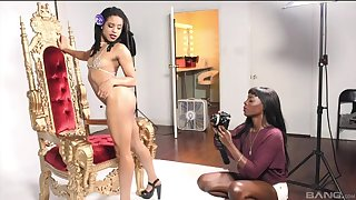Two spunky black lesbians can't get enough of each other