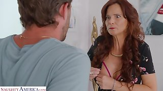 Mature mom with big tits boned by her son's friend