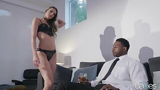 Horny black dude with a huge dick assfucks his personal assistant