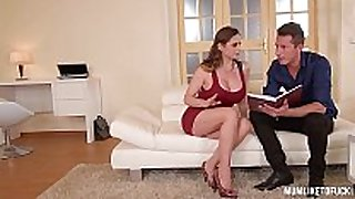 Mom next door cathy heaven goes wild in dp thre...