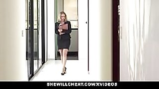 Shewillcheat - sexually horny real estate agent fucks bbc