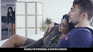 Familystrokes - sexy latin twin sisters compete ...