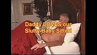 Daddy eats babysitters ball batter pie